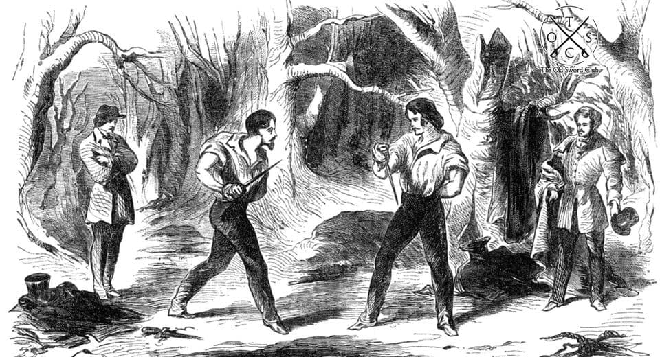 Bowie knife fighting skills of the 19th Century